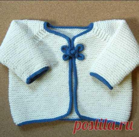 Жакеты для малышей, связанные на спицах