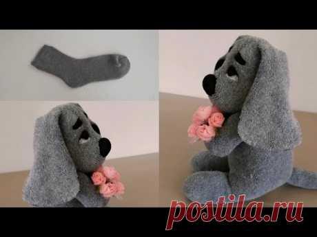 Милый щенок из носков, МК
