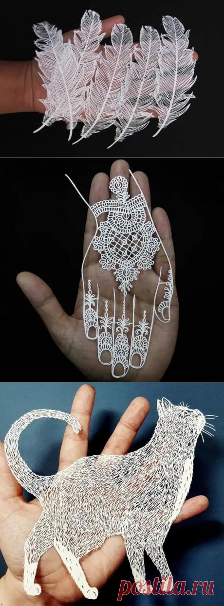 Кири (kirie) - японское традиционное искусство вырезания из бумаги - Сам себе мастер - медиаплатформа МирТесен