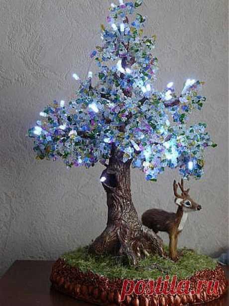 Дерево-светильник