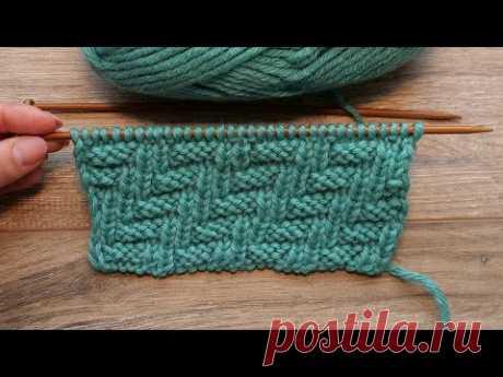 Двухсторонний узор «Зиг-заг» спицами 🥰 «Zig zag» knitting pattern