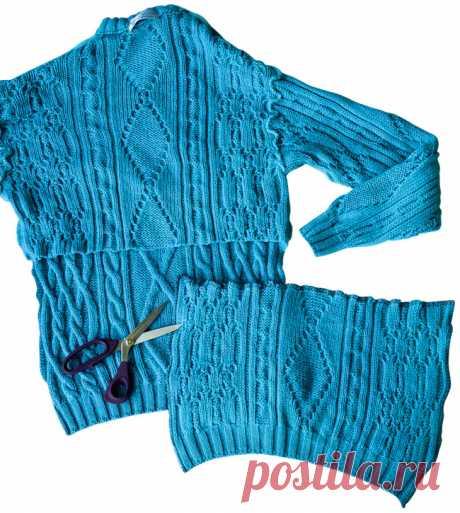 Второй шанс: шапка, варежки и шарф снуд из пуловера — Мастер-классы на BurdaStyle.ru