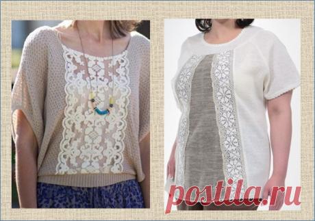 Как увеличить размер кофточки или блузки с помощью кружевных вставок | МНЕ ИНТЕРЕСНО | Яндекс Дзен