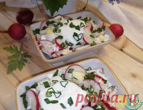 Салат с редисом и творогом – кулинарный рецепт