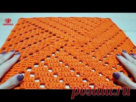Квадратный вязание крючком для ковриков