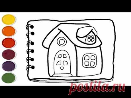 💎 House drawing and coloring book for kids | Coloring Pages For Kids | Kids drawing easy - YouTube