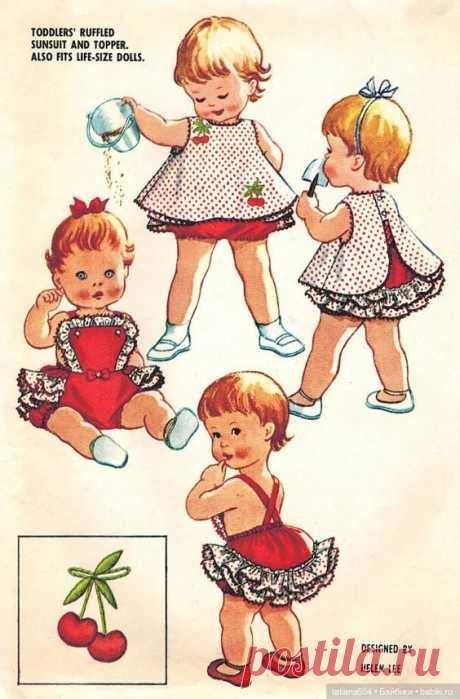 Модели и выкройки кукольных нарядов из винтажных иностранных журналов ...(часть 3) / Выкройки одежды для кукол-детей, мастер классы / Бэйбики. Куклы фото. Одежда для кукол