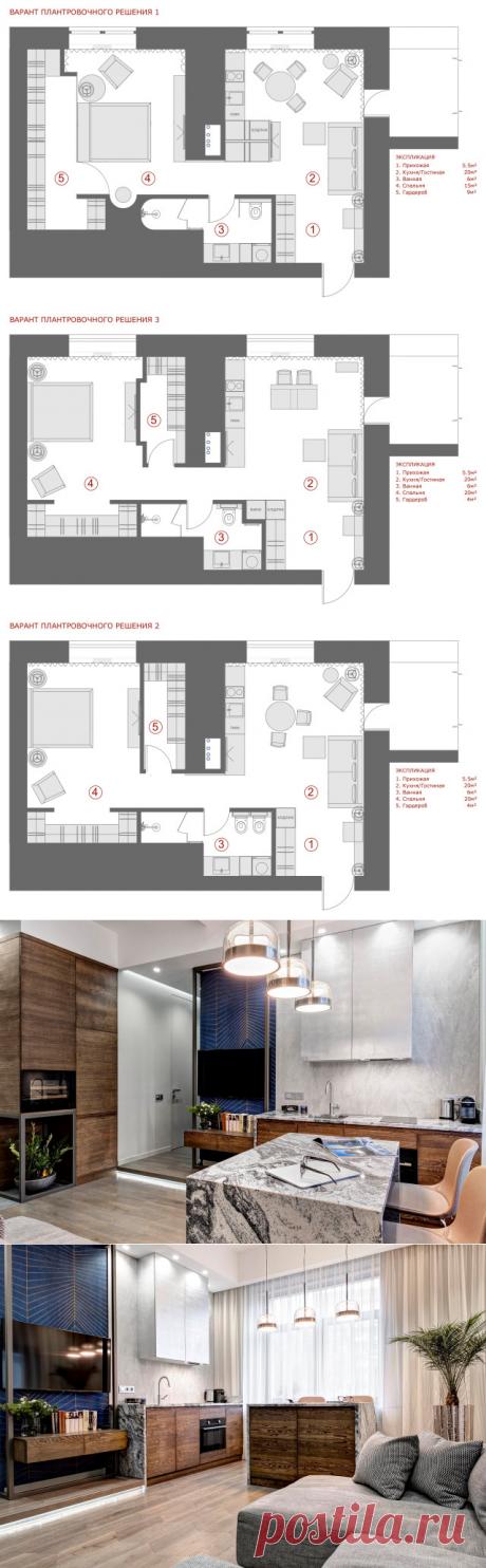 Планировка двухкомнатной квартиры 56 кв м: 3 варианта и окончательный дизайн | Houzz Россия