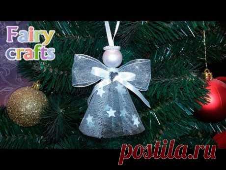 Рождественский ангел своими руками ❅ Мастер-класс | DIY ❅ Christmas angel ❅ Room Decor - YouTube