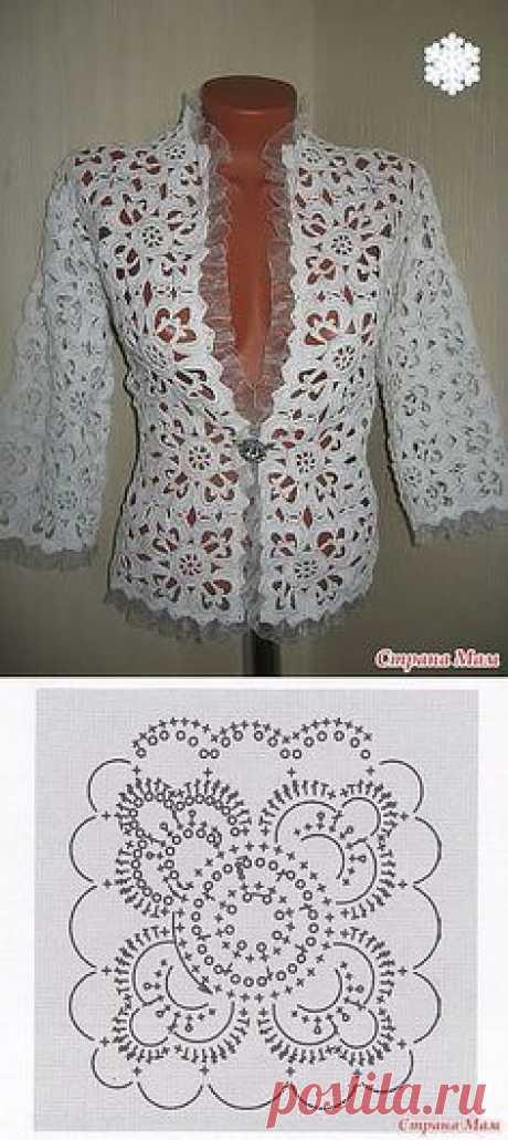(1) CHIC Jacket MOTIVES | la LABOR de punto el GANCHO del BOLERO las CHAQUETAS del VESTIDO | del Postlimo | Crochet