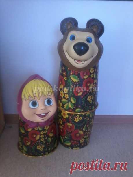 Летний дизайн участка детского сада. Маша и Медведь своими руками