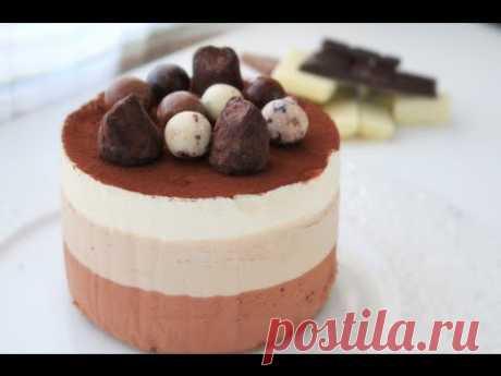 La torta Tres chocolate \/ Triple Chocolate Mousse Cake