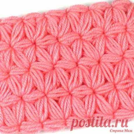 Объемный узор для теплых вещей Этот объемный узор отлично подходит для теплых шапочек, шарфов, пледов. Узор материалоёмкий, но он этого стоит.