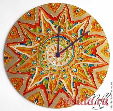 Солнечная яркая витражная роспись тарелок — Делаем руками