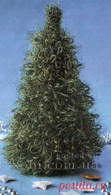 елочка из вытянутых петель
