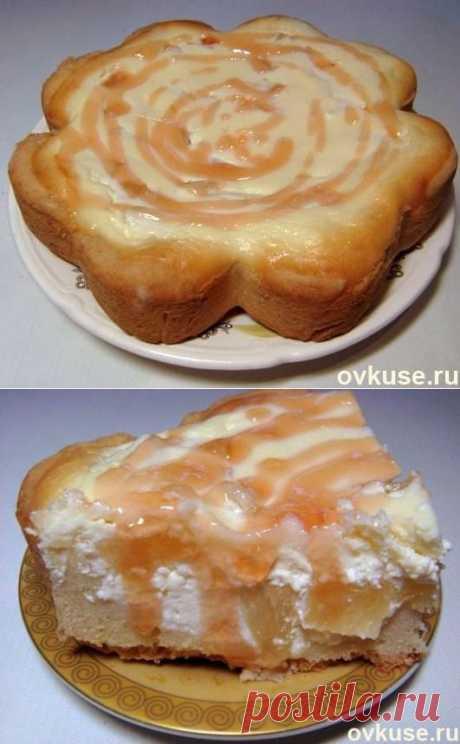 Творожный пирог с ананасами - Простые рецепты Овкусе.ру