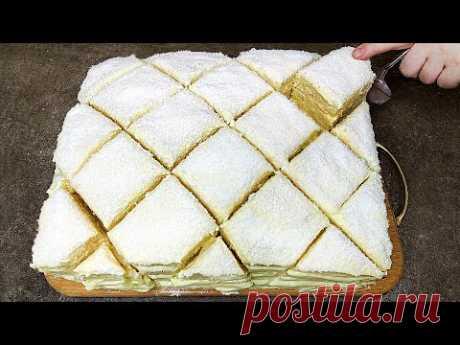 Простой рецепт, очень вкусного торта! Творожный торт Наполеон который тает во рту!