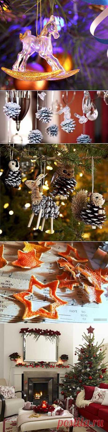 Как украсить свой дом к Новому году - идеи, примеры с фото