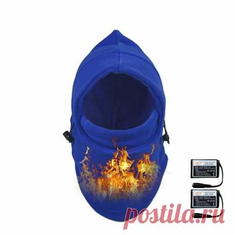 Warmspace electric heated motorcycle cs face mask winter protection dust wind proof scarf masks hat Sale - Banggood.com