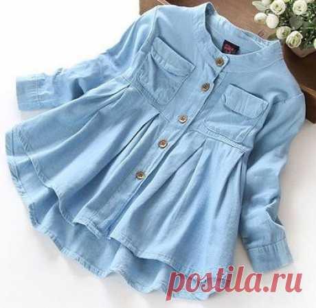 Детское платье-рубашка Chamesier - Бесплатные модели