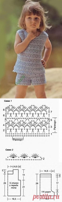 Топ и шорты на девочку 1.5-2 года