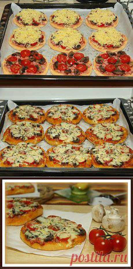 ВкусЛандия - Мини пицца с грибами и колбасой
