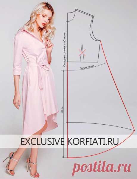 ¡El patrón del vestido con el dobladillo asimétrico de Anastasia Korfiati veíais nunca de nada más tierno! El color y el modelo, y la tela de este vestido son más alto de cada elogios. ¡El patrón del vestido con el dobladillo asimétrico se basa simplemente!