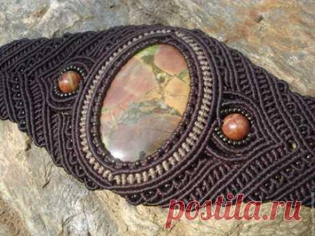 Comprar la Pulsera con el jaspe - adornamiento de la labor a mano, la pulsera, la Pulsera de la labor a mano, la pulsera con las piedras