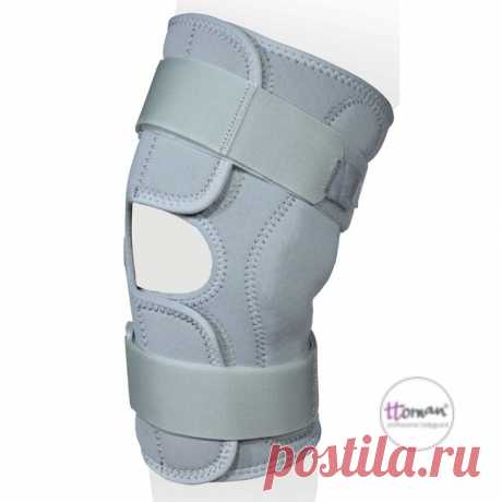 Бандаж на коленный сустав (ККС-03,Т3)арт. KS-FP Ttoman Разъем спереди, с полицентр-ми шарнирами. Аэропрен.