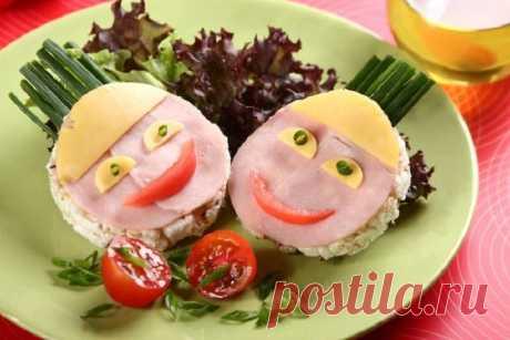Красивые бутерброды на детский стол – пошаговый рецепт с фото.