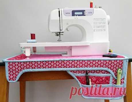 Скатерть с карманами под швейную машинку