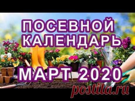 Лунный КАЛЕНДАРЬ ОГОРОДНИКА и САДОВОДА 🌱 ПОСЕВНОЙ календарь на МАРТ 2020