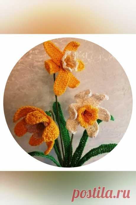 Цветы крючком - нежный нарцисс. Часть 2 Еще немного интересного про нарциссы, прежде чем мы продолжим вязать цветок... рукоделие, рукоделие,вязание,вязание крючком,вязаные цветы,вяжем цветы,вязание для начинающих,вязание для всех,творчество,хобби,ручная работа