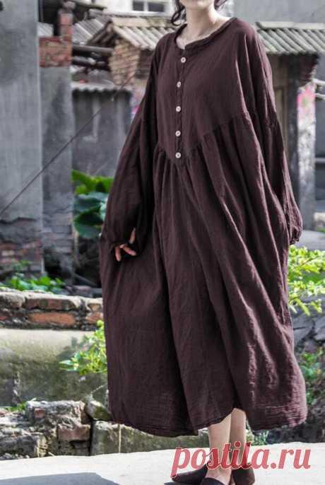 Women 's dress maxi dress Longsleeve dark gray dress   Etsy