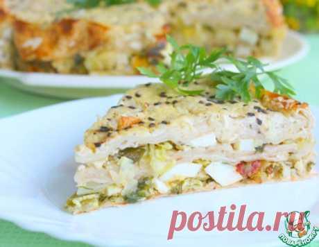 Летний пирог из лаваша – кулинарный рецепт