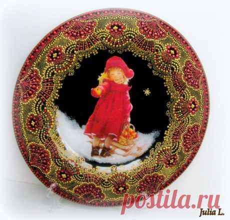 """Тарелка """"Рождественская звезда"""""""