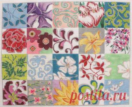 Alice_Peterson_2763_Patchwork_Collage_II_Flowers_13_mesh_14.75_x_12_Handpainted_Needlepoint_Canvas_Threads_Sold_Separately_200_large.JPG (479×389)