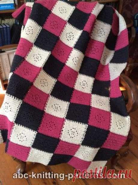 Happy Squares Seamless Modular Afghan Free Afghan Crochet Pattern