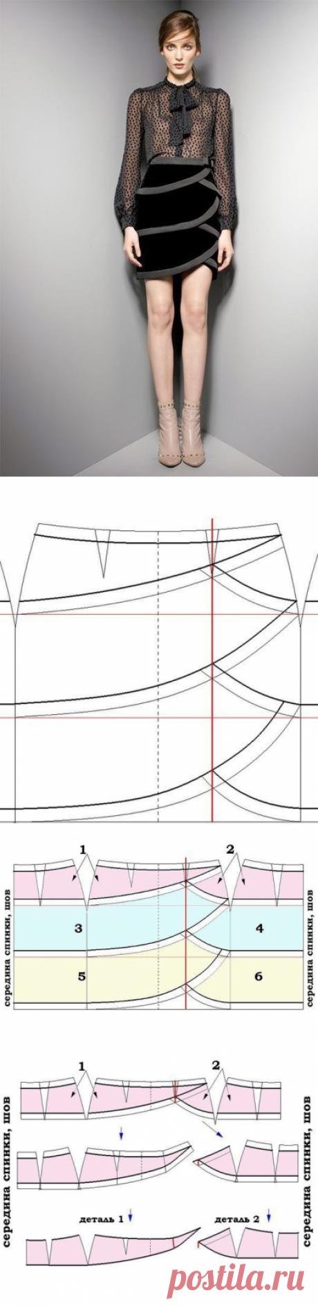 Портной • Шитье, переделки - легко!Шьем бархатную трехъярусную юбку из коллекции Valentino Pre-collezioni Autunno Inverno