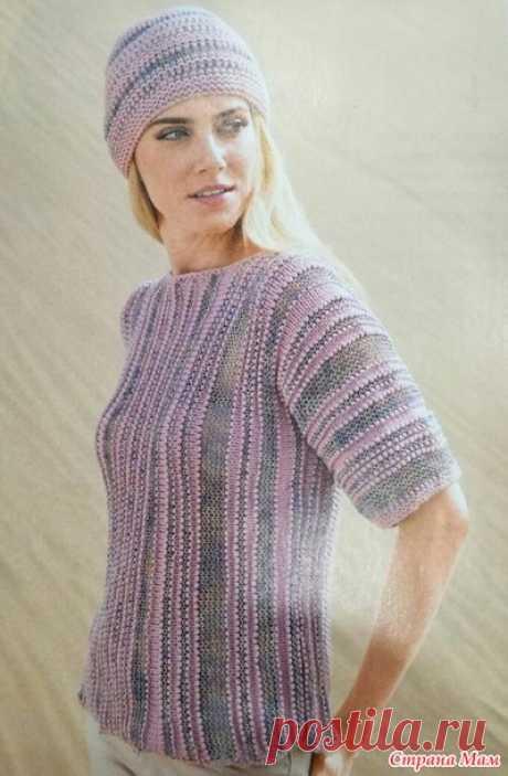 . Пуловер просто и быстро - Вязание - Страна Мам