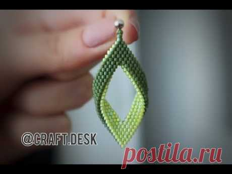 Folded Peyote Earrings with 2 colors