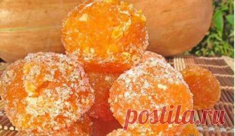 """Вкуснейший тыквенный мармелад - полезные сладости  Ингредиенты: - Тыква — 500 Грамм- Сахар — 250 Грамм- Лимонный сок — 3 Ст. ложкиКак приготовить """"Тыквенный мармелад""""Тыкву отварите на пару и сделайте пюре. Добавьте в пюре сахар и лимонный сок, …"""