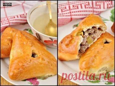 Эчпочмак (треугольные пироги с картошкой и мясом)