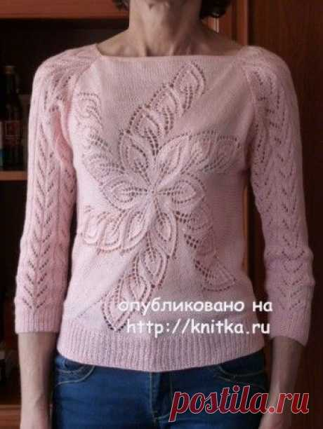 Women's jacket spokes with the description and schemes, Knitting for women