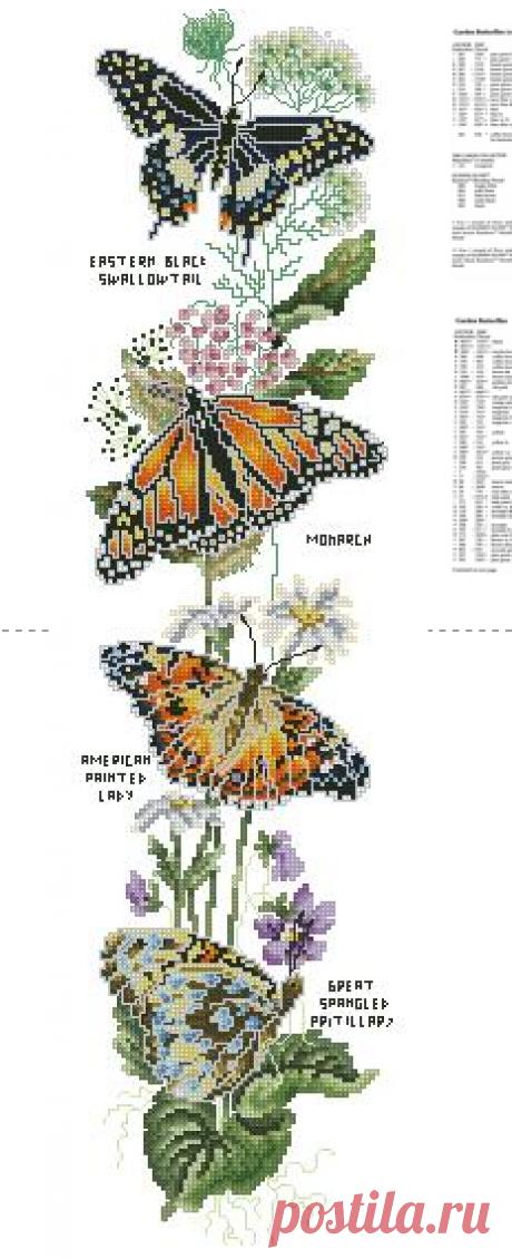 бабочки, панель