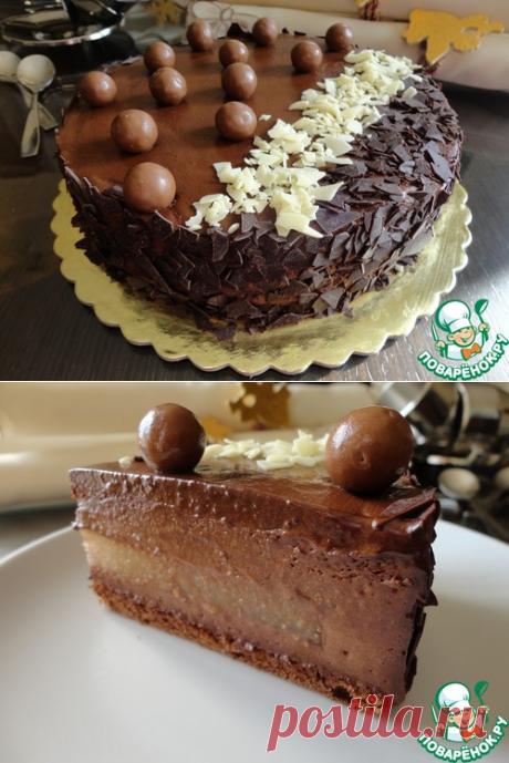 Торт с шоколадным муссом и грушевым желе – кулинарный рецепт