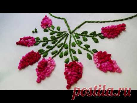 Hand Embroidery: Neckline Embroidery/ French knots
