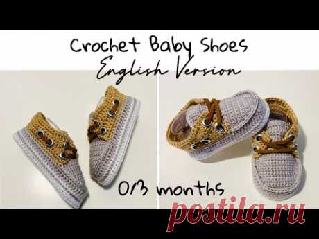 How To Crochet Baby Shoes | 0 To 3 Months | Step By Step | English Tutorial