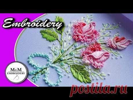 Embroidery: Brazilian Rose 🌸Вышивка: Бразильская Роза