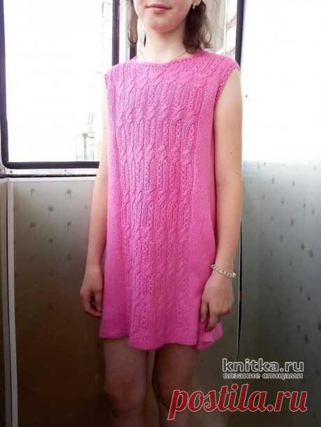 Платье для девочки спицами. Работа Татьяны Ивановны, Вязание для детей